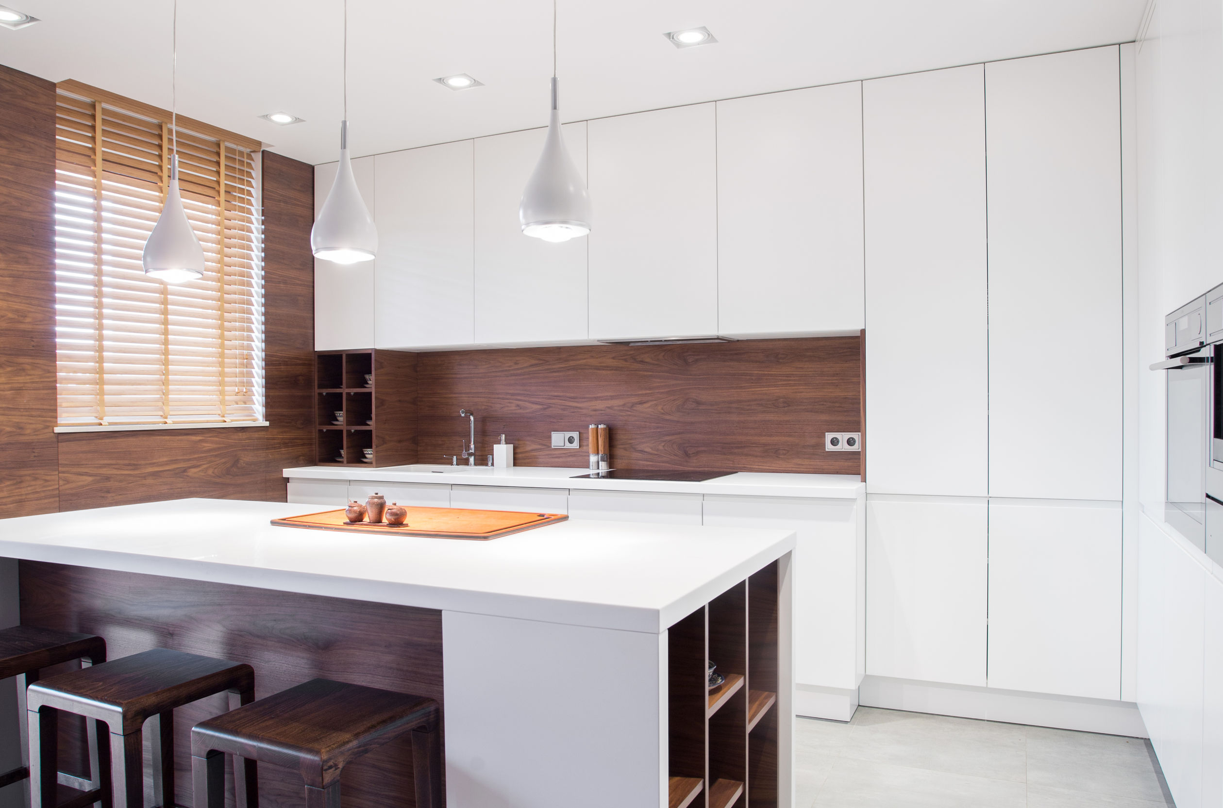 44654499 - image of modern design spacious light kitchen interior