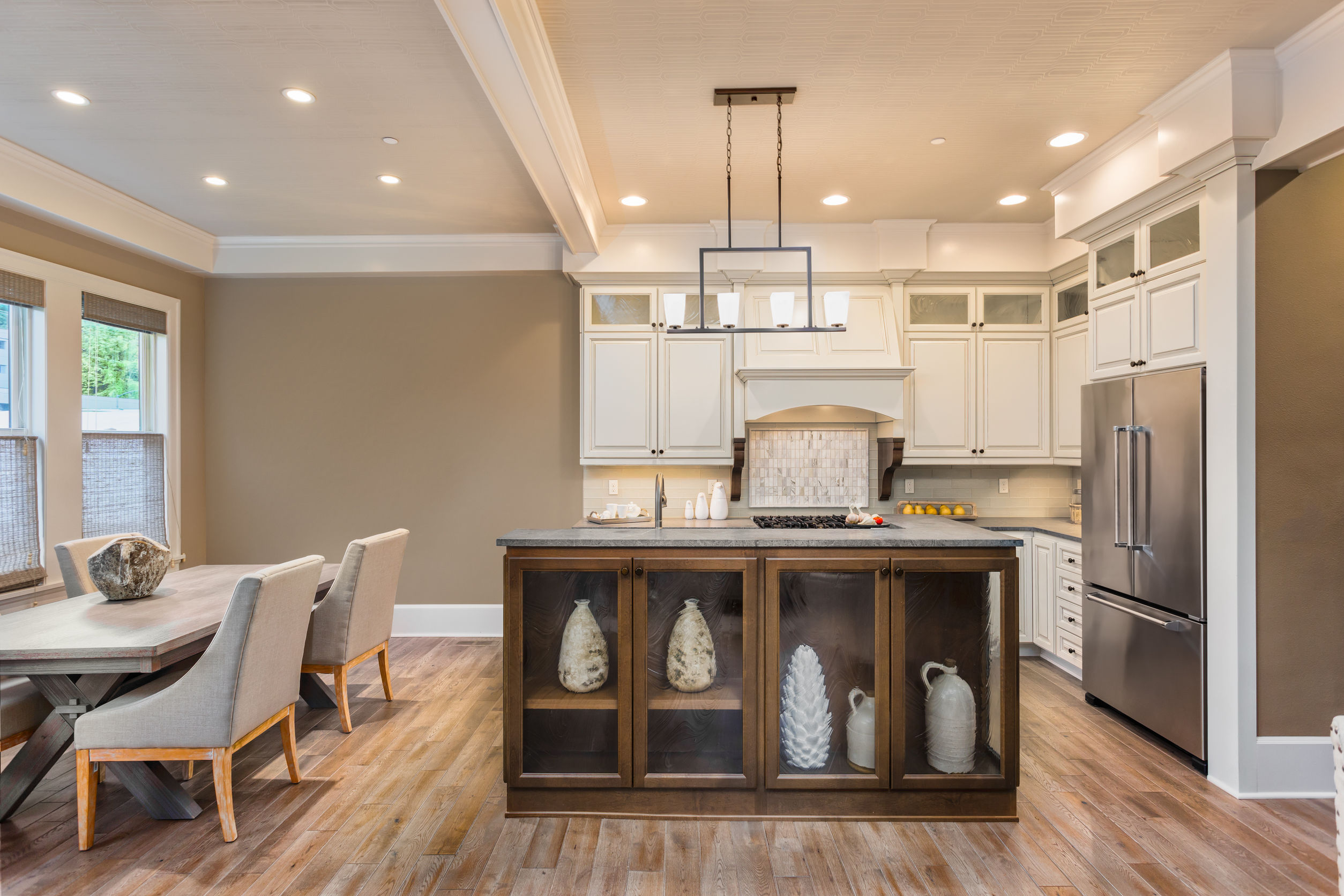 46487546 - kitchen and dining room interior in new luxury home